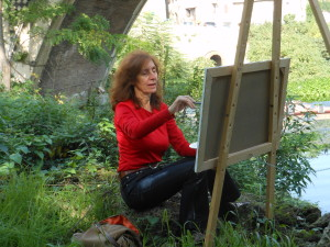 Anna at the easel