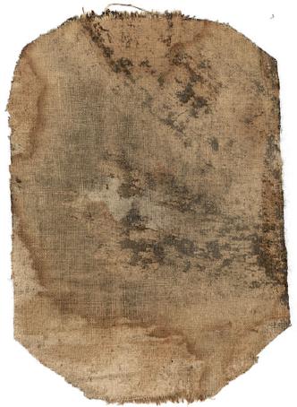 """""""toppe"""" nella parte posteriore del dipinto, prima e dopo il restauro"""